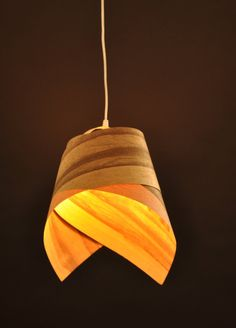Tie Veneer Lampshade by Vayehi on Etsy, $220.00  //admired by http://www.truelatvia.com