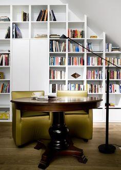 More bookshelves.  Never too many!