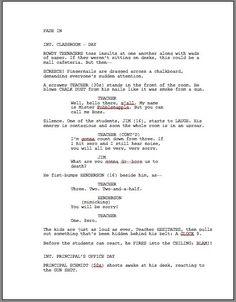 proper screenplay margins screenplay format pinterest