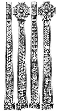 Gosforth cross, Viking, Cumbria, Vidar, Fenrir, Ragnarok, stone sculpture, Collingwood