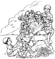Coloring Pages Pictures Of Jesus With Children To Color Jesus - Jesus-with-child-coloring-page