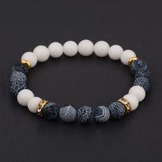 8 mm Bleu Jade AMBER BRACELET Reiki Sutra Healing extensible Bead Handmade Yoga