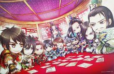 Lu Xun, Jiang Wei, Sun Quan, Zhao Yun, Zhong Hui, Sima Yi, Wen Yang, Zhang Liao, Zhang He, Cao Pi, Zhuge Liang