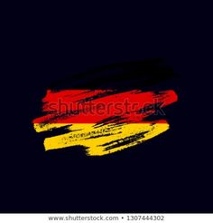 Vector brush painted flag of Federal Republic of Germany isolated on dark blue background. Frayed and scratched the national symbol of the European country Grunge, Vector Brush, National Symbols, Dark Blue Background, Flag Vector, Morale Patch, Blue Backgrounds, New Pictures, Royalty Free Photos