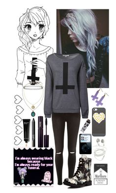 """""""Goth """" by wahtthefudge-666 ❤ liked on Polyvore featuring River Island, Glamorous, Topshop, Ash, Casetify, INIKA, NARS Cosmetics, Bobbi Brown Cosmetics, women's clothing and women's fashion"""