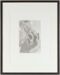 """25463- Rob Delamater, 2012, Monotype on Paper, 21""""x26"""" Framed, Price: $535  #abstract #monotype"""
