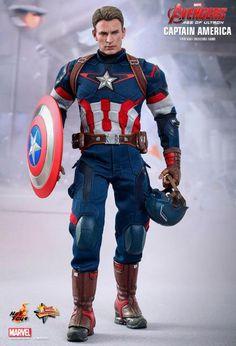 Figura Capitán América 31 cm. Los Vengadores: La Era de Ultrón. Movie Masterpiece. Hot Toys <ul> <li>Figura Capitán América 31 cm.<br> <li>100% oficial y licenciada.<br> <li>Más de 30 puntos de articulación.<br> <li>Excelente pintado y moldeado que gustará a los fans del Capitán América. <li>Viene con accesorios y complementos.<br> </li> </ul>
