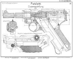 Luger P08 blueprint Loading that magazine is a pain! Get your Magazine speedloader today! http://www.amazon.com/shops/raeind
