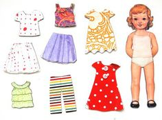 Must remeber to make paper dolls for my daughter when she is old enough (magnets or velcro + fabric)
