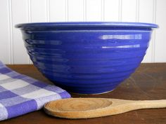 Vintage Antique Ovenware USA Mixing Bowl 1930's by whatnotsandsuch, $38.00