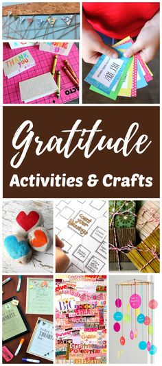 Gratitude activities and crafts for kids. Easy ideas to help children practice thankfulness and nurture a grateful attitude in the home year round. Simple thankful lessons, activities, crafts, and links to Thanksgiving ideas are included.