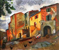 Camoin, Charles (1879-1965) - 1912 Village Street in Collioure