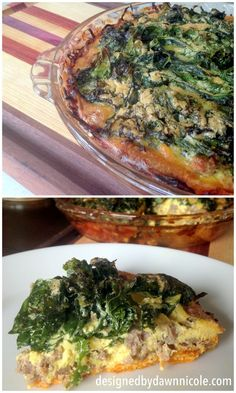 Crispy Kale & Sausage Quiche with Sweet Potato Crust {Paleo & Whole30 Compliant}