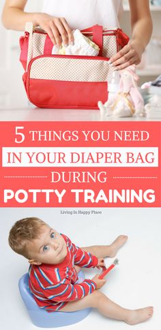 Potty training accident kit- 5 things you need in your diaper bag while potty training. No matter what potty training tips you try or whether you potty train in 3 days or 3 months- accidents happen! Be prepared with these 5 potty training necessities! #pottytraining #toddlers #pottytrain #parenting #kids via @HappyPlaceMom