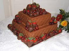 Chocolate covered strawberry cake.