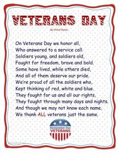 what is veterans day essay
