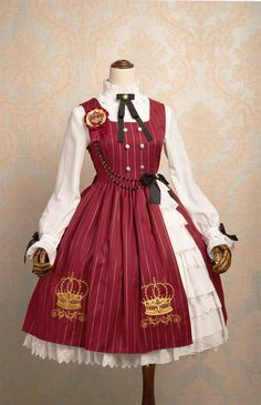 MeowMe -Crown of Brambles- Crown Embroidery Lolita Jumper Dress