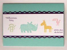 """Glückwunschkarte zum Baby mit den """"Zoo Babies""""  http://eris-kreativwerkstatt.blogspot.de/2014/03/gluckwunschkarte-zum-baby-mit-den-zoo.html"""