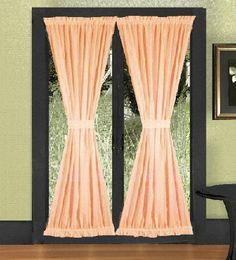 Ideas Large Sliding Glass Door Curtains Products For 2019 French Door Curtain Panels, Glass Door Curtains, Panel Curtains, Glass Cabinet Doors, Sliding Glass Door, Curtain Backdrop Wedding, Peach Shower Curtain, Unique Front Doors, Front Door Lighting