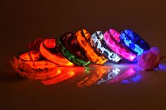 Camouflage LED Dog Collar-6 Colors-4 flash modes