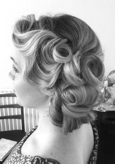 Vintage Inspired Hair Up http://thebridalstylists.co.uk/ Love this hairdo