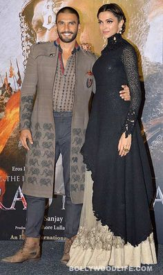 Ranveer Singh and Deepika Padukone SLAYED with their style at the Bajirao Mastani trailer launch - view HQ pics! - Bollywood News & Gossip, Movie Reviews, Trailers & Videos at Bollywoodlife.com