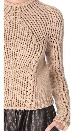 Alexander Wang Seamless Hand Knit Pullover.