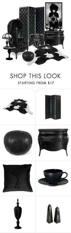 """Tuffed Trad"" by rowangingerraven ❤ liked on Polyvore featuring interior, interiors, interior design, home, home decor, interior decorating, Matisse, Crate and Barrel, Pillow Decor and Mikasa"