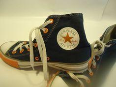 92ee6d90a8c Kid s Boy s Converse Chuck Taylor All Star Shoes White Blue Orange Sz-5.5  NICE!
