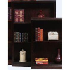 "AmericanHeartland Poplar 48"" Standard Bookcase Finish: Antique Black"
