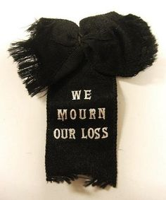 Antique Victorian Black Mourning Ribbon in Memoriam Memento Mori   eBay