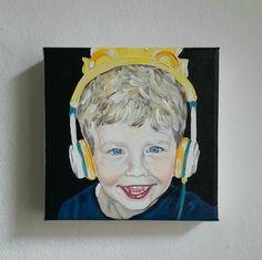Klassisches Kinderportrait Acryl auf Leinwand