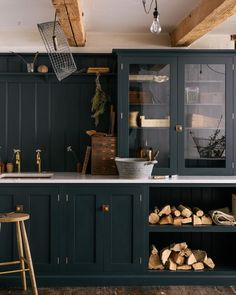 """416 Likes, 5 Comments - deVOL Kitchens (@devolkitchens) on Instagram: """"The tongue and groove panelling, skirting and richness of the 'Pantry Blue' paintwork gives this…"""""""