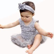 Red Newborn Baby Girl Dress Summer New Born Cotton Infant Clothing Sleeveless Rose Flower Rompers Carters Baby Girl Clothes 2015(China (Mainland))