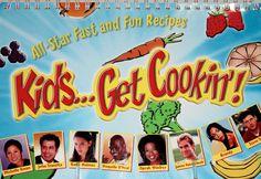 Celebrity Cookbook Get Cookin' Spiral Bound English Spanish Celebrity Laminated