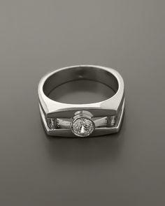Δαχτυλίδι ανδρικό λευκόχρυσο Κ18 με Ζιργκόν Wedding Rings, Engagement Rings, Jewelry, Enagement Rings, Jewlery, Jewerly, Schmuck, Jewels, Jewelery