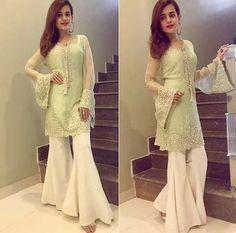 Latest Stitching Styles Of Pakistani Dresses 2019 Pakistani Fashion Casual, Pakistani Wedding Outfits, Pakistani Dresses Casual, Pakistani Dress Design, Indian Dresses, Indian Outfits, Indian Fashion, Women's Fashion, Stylish Dresses