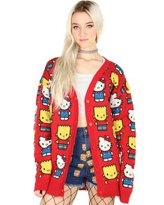 HELLO KITTY & BART CARDIGAN at Shop Jeen - SHOP JEEN