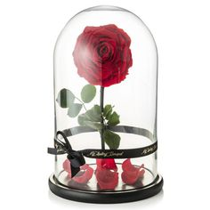 """""""My Lasting Bouquet roses are real roses that have been treated with special solution that stops the growth of the roses at their peak. Our luxury roses maintain their real soft touch and shape,"""" the website notes. Sorcery!"""