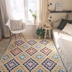 Crochet rug diy home 52 trendy ideas Diy Carpet, Beige Carpet, Rugs On Carpet, Stair Carpet, Hall Carpet, Crochet Carpet, Crochet Home, Diy Crochet, Knit Rug