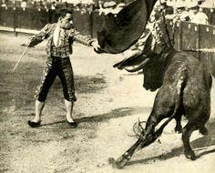 Vicente Pastor en la primera década del siglo XX en un natural por alto.