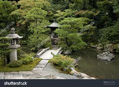Japanese Traditional Garden In Kyoto Japan Foto d'archivio 75634900 : Shutterstock