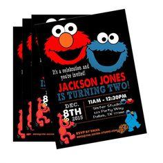 Elmo and Cookie Monster Birthday Invitation PRINTABLE Sesame