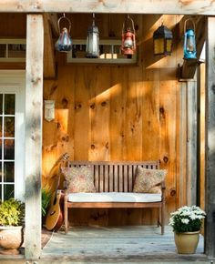 Give me this porch, this bench, that guitar, and cup of coffee and I'll be just fine.