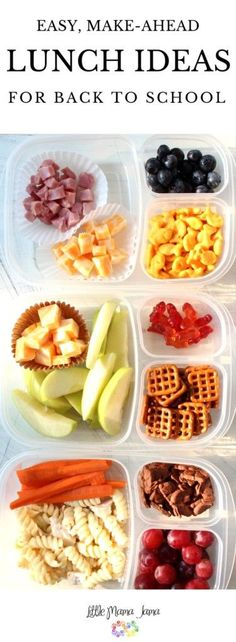 Kids Meals Use bento boxes to create these easy, make-ahead school lunches! [ad] - Use bento boxes to create these easy, make-ahead school lunches that are both nutritious and picky eater approved! Back to school made easy. Kids Lunch For School, Healthy School Lunches, Make Ahead Lunches, Healthy Snacks, Healthy Recipes, Food For School Lunches, Kids Healthy Lunches, School Snacks For Kindergarten, Preschool Lunch Ideas