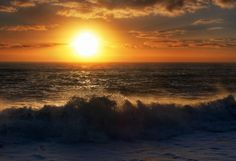 In this photo of the sunset over the Tasman Sea, off the coast of New Zealand, I did take 7 exposures form +3 to -3.  Whenever you aim the camera right into the sun, you need to expose even more range than normal. - Te Anau, New Zealand - Photo from #treyratcliff Trey Ratcliff at http://www.StuckInCustoms.com