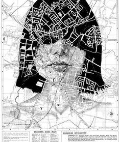Ed Fairburn's Map Art Portraits #artschool