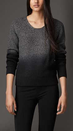 Merino Wool Silk Dip Dye Sweater | Burberry