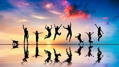 Happy friends, family with dog and cat jumping at sunset. Happy group of friends , Happy Friends, Group Of Friends, Friends Family, Stupid Friends, Beach Friends, 7 Chakras, What Is Happiness, Choose Happiness, Finding Happiness