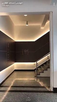 Coridor Design, Flur Design, Lobby Design, Wall Design, House Design, Lobby Interior, Interior Stairs, Interior Lighting, Interior Styling